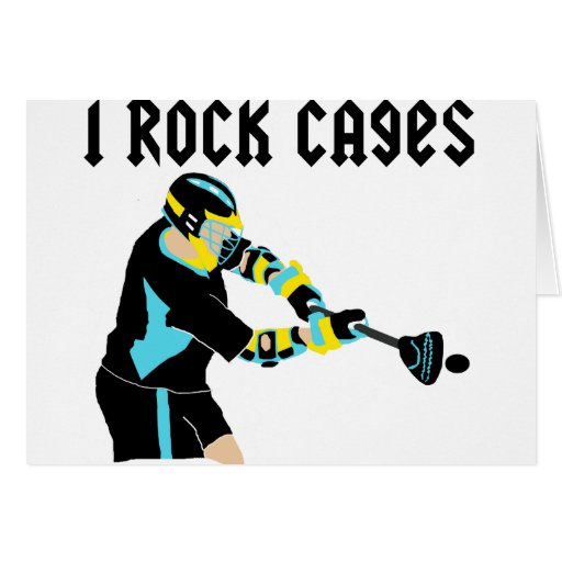 Lacrosse IRockCages Greeting Card