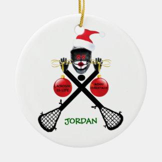 Lacrosse is Life Christmas Ceramic Ornament