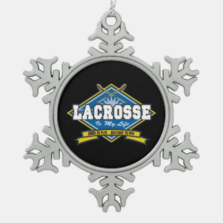 Lacrosse is My Life Snowflake Pewter Christmas Ornament