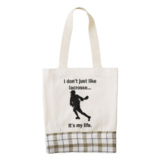 Lacrosse It's My Life Zazzle HEART Tote Bag