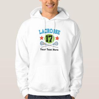 Lacrosse Jersey Number 17 Gift Idea Hoodie