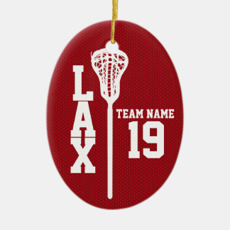 Lacrosse Jersey with Photo Red Ceramic Ornament