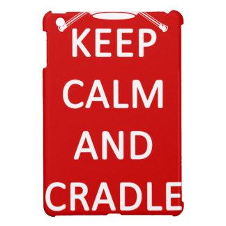 Lacrosse Keep Calm and Cradle On iPad Mini Case