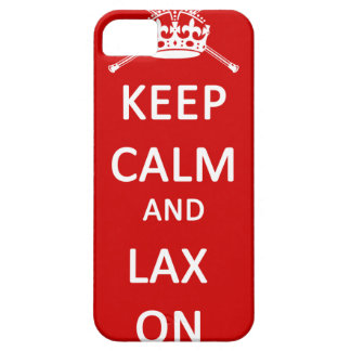 Lacrosse Keep Calm And Lax On iPhone 5/5S Covers