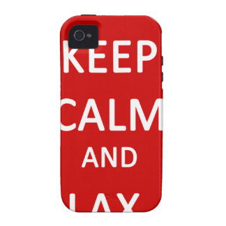 Lacrosse Keep Calm And Lax On Vibe iPhone 4 Covers