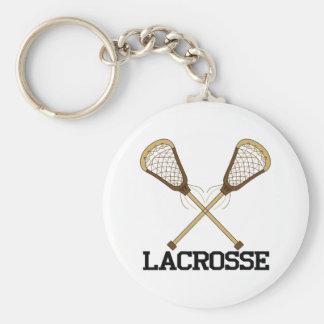 Lacrosse Basic Round Button Keychain