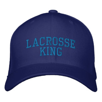 Lacrosse King Embroidered Baseball Cap