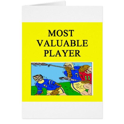 LACROSSE la mayoría del jugador valioso Tarjetón
