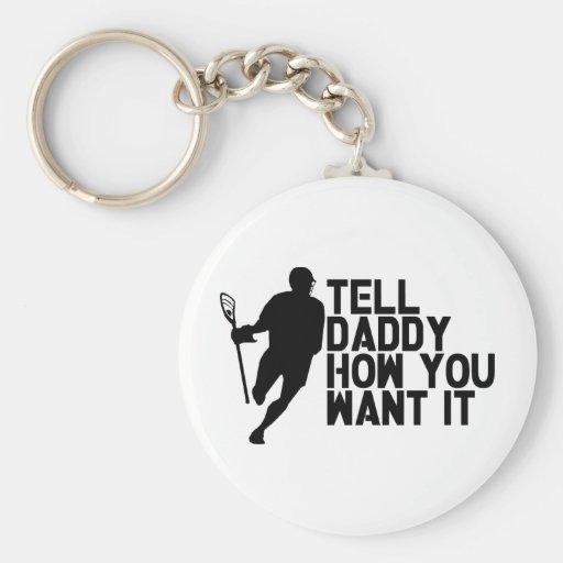 Lacrosse Lax Daddy Keychain