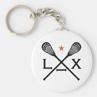 Lacrosse Lax Keychain