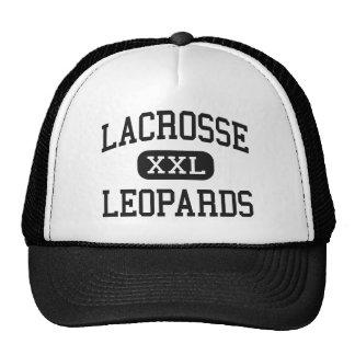 LaCrosse - leopardos - alto - La Crosse Kansas Gorros Bordados