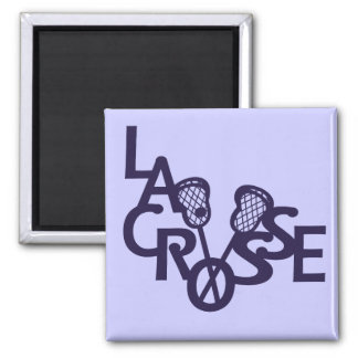 Lacrosse Letters 2 Inch Square Magnet