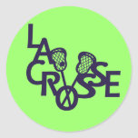 Lacrosse Letters Round Stickers
