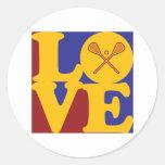 Lacrosse Love Classic Round Sticker