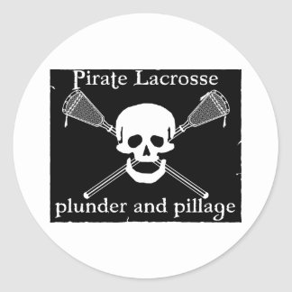 Lacrosse Mascot Pirate Sticker