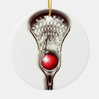 Lacrosse Merry Lax-mas Ceramic Ornament