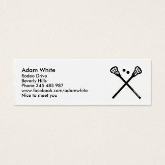 Lacrosse Mini Business Card