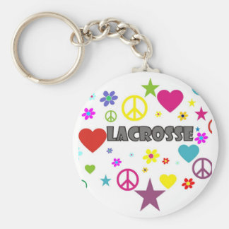 Lacrosse Mixed Graphics Keychain