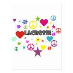 Lacrosse Mixed Graphics Postcard