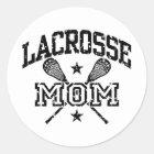 Lacrosse Mom Classic Round Sticker