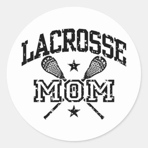 Lacrosse Mom Classic Round Sticker Zazzle