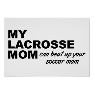 Lacrosse Mom Funny Poster