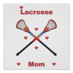 Lacrosse Mom Hearts Posters