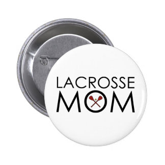 Lacrosse Mom Pinback Button