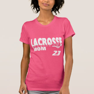 Lacrosse Mom with Number T-Shirt