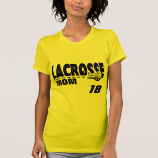 Lacrosse Mom with Number Tee Shirt
