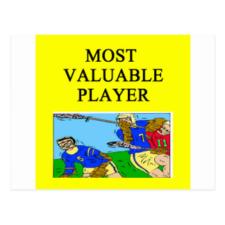 LACROSSE most valuable player Postcard