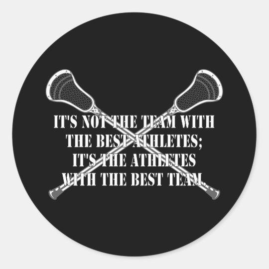Lacrosse Motivation BestTeam Sticker