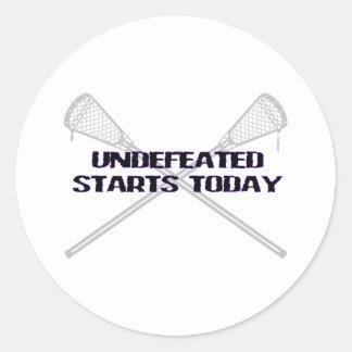Lacrosse Motivation Undefeated Sticker