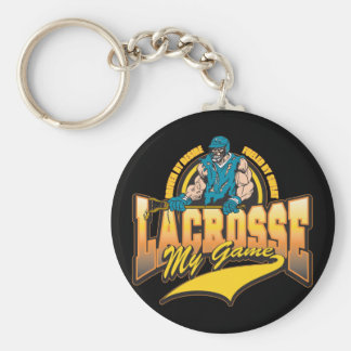 Lacrosse My Game Basic Round Button Keychain