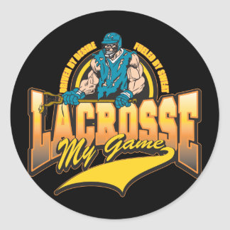 Lacrosse My Game Classic Round Sticker
