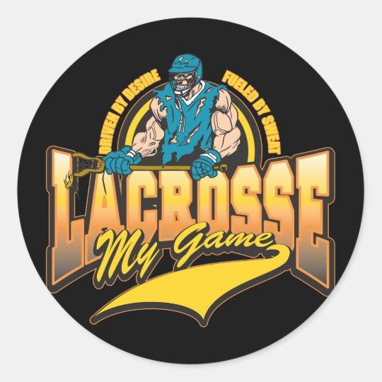Lacrosse My Game Classic Round Sticker