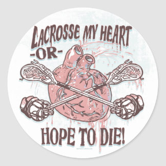Lacrosse My Heart Lax Gear Classic Round Sticker