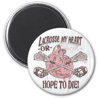 Lacrosse My Heart Lax Gear Magnet