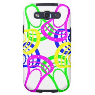 Lacrosse Neon Heads Samsung Galaxy SIII Cases