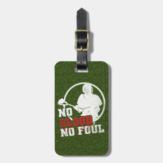 Lacrosse No Blood No Foul Custom Luggage Tag