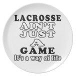 LaCrosse no es apenas un juego que es una manera d Platos Para Fiestas
