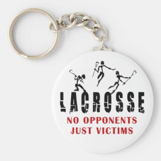 Lacrosse No opponents Just Victims T-Shirts Gifts Key Chain