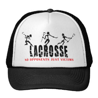 Lacrosse No opponents Just Victims T-Shirts Gifts Trucker Hat