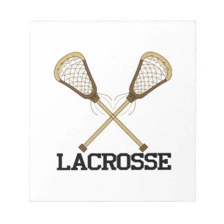 Lacrosse Note Pad