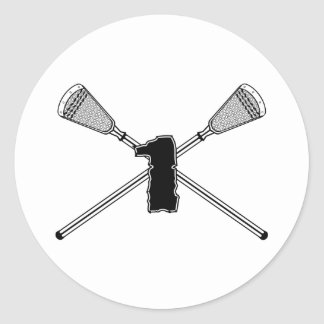 Lacrosse Number 01 Sticker