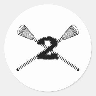 Lacrosse Number 02 Sticker