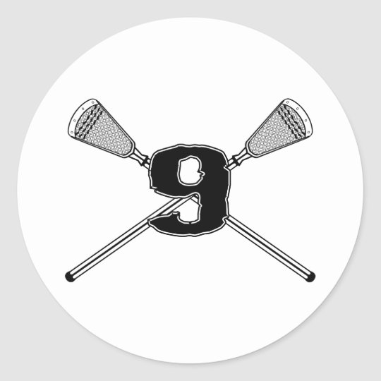 Lacrosse Number 09 Sticker
