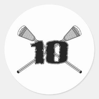 Lacrosse Number 10 Sticker