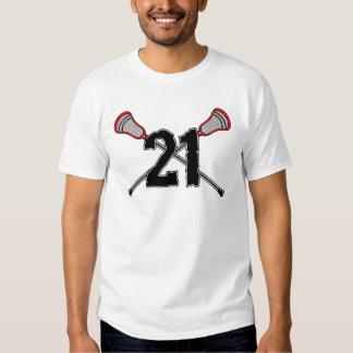 Lacrosse Number 21 2 T-Shirt
