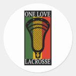 LaCrosse OneLove Pegatina Redonda